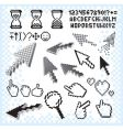 pixilated symbols vector image vector image