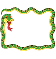 snake frame vector image