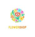 Floral logo design element vector image vector image