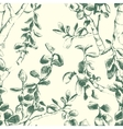 jade plant seamless pattern vector image vector image