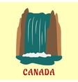 Canadian nature landmarks travel flat concept vector image