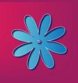 flower sign blue 3d printed vector image