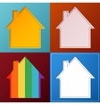Set of four simple abstract house backgrounds vector image