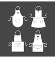Template Blank White Apron Set vector image