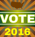 Usa Election 2016 Vote Banner vector image
