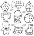 baby element doodles vector image