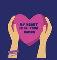 concept poster for valentines day and love idea of vector image vector image