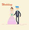 groom and bridecouple holding hands on wedding vector image