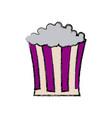 pop corn box snack food icon vector image