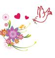 Valentines bird design vector image
