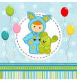 baby boy dressed as rabbit vector image vector image