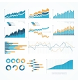 Set of infographics elements vector image