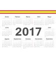 Circle spanish 2017 year calendar vector image