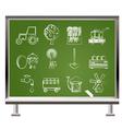 chalk farming industry vector image vector image