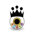 Bingo logo with a crown vector image