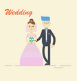 groom and bridecouple holding hands on wedding vector image