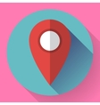 Map pointer flat icon Flat vector image