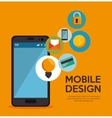 mobile design social networking icon vector image