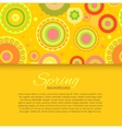 Postcard with yellow seamless pattern vector image