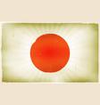 vintage japan flag poster background vector image