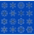 vintage snowflake set in zentangle style 16 vector image