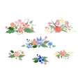 watercolor floral bouquets vector image