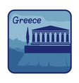 with acropolis of Athens in Greece vector image