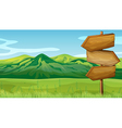 Mountain Wooden Signboards vector image vector image