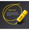 ector markers text box vector image