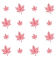 autumn polygonal maple leaves seamless pattern vector image