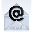 Envelope with e-mail sign vector image