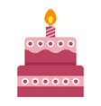 birthday cake flat icon sweet and holiday vector image