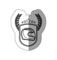 Isolated motorcycle helmet design vector image