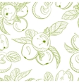 Monochrome pattern drawing apples and apple branch vector image