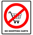 no shopping cart sign vector image