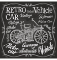 retro car logo design template vehicle or vector image