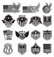 set of made in usa labels emblems with an vector image