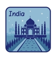 with Taj Mahal in India vector image