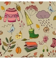 Handdrawn autumn design vector image