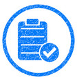 approve list rounded grainy icon vector image