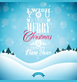 merry christmas with typography and ornament vector image