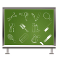 chalk hairdressing icons vector image vector image
