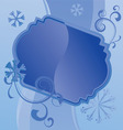Blue christmas snowflakes vector image