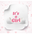 Its a girl Template for baby shower celebration vector image