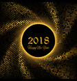 new year 2018 gold glitter background vector image