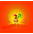 Rooster New Year 2017 Year of the Rooster Flat vector image
