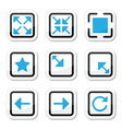 Web page screen size icons set vector image