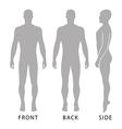 Fashion bald man full length template figure vector image vector image