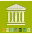 Flat design courthouse vector image
