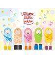 Welcome little babies vector image